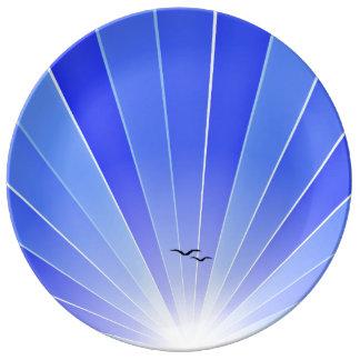 Azul Platos De Cerámica