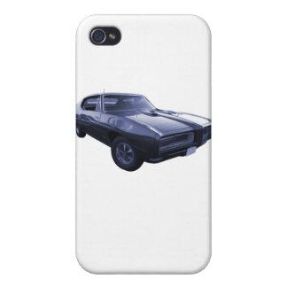 Azul Pontiac 1968 GTO iPhone 4 Funda