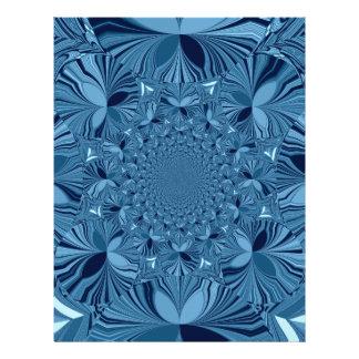 Azul precioso membrete