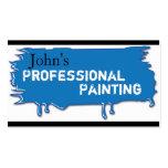 Azul profesional de la tarjeta de visita de la pin