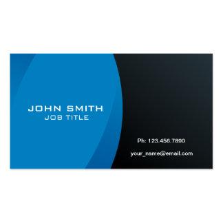 Azul profesional y negro modernos tarjetas de visita