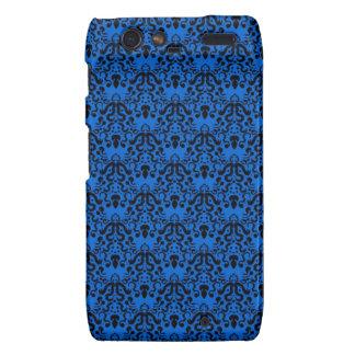 Azul profundo barroco y magnífico negro hermoso droid RAZR carcasa