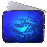 Azul profundo fundas computadoras