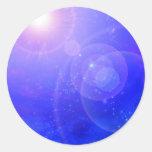 Azul profundo pegatina redonda