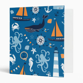 "Azul profundo todas las cosas náuticas carpeta 1"""