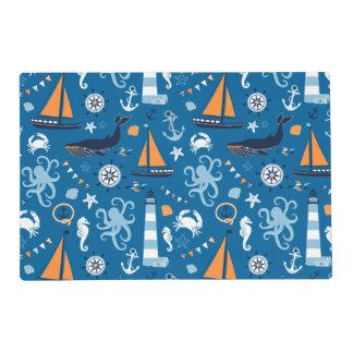 Azul profundo todas las cosas náuticas salvamanteles