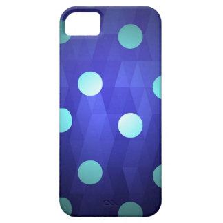 Azul profundo vivo blanco de los lunares grandes iPhone 5 Case-Mate cobertura