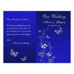 Azul, programa floral del boda de la mariposa de l tarjetas informativas