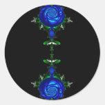 Azul psicodélico pegatinas