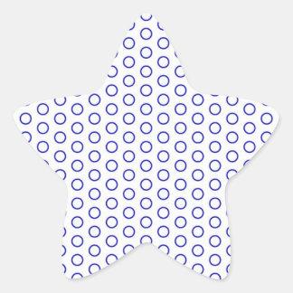 azul puntúa blue dots polka tocan ligeramente must pegatina en forma de estrella