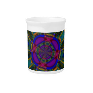 Azul púrpura de cena abstracto del espacio jarra para bebida