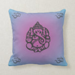 Azul/púrpura de la almohada de la yoga de Ganesh