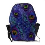 Azul púrpura de la bolsa de mensajero del pavo rea bolsas de mensajeria