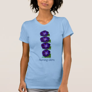 Azul púrpura de la correhuela camisetas
