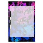 Azul púrpura de la salpicadura de la tinta tablero blanco