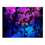 Azul púrpura de la salpicadura de la tinta postales