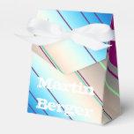 azul púrpura de las rayas diagonales cajas para regalos de fiestas