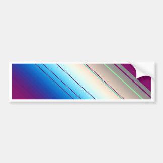 azul púrpura de las rayas diagonales pegatina para auto