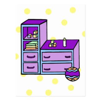 azul púrpura del aparador tarjetas postales