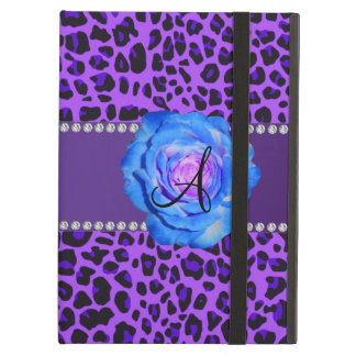 Azul púrpura del leopardo del monograma subió