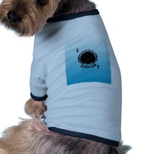 Azul que colorea y blanco del naipe camisa de perro