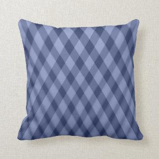 Azul que combina líneas almohada