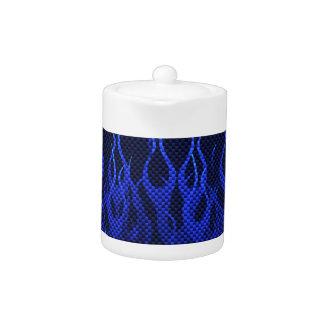 Azul que compite con las llamas en la impresión de