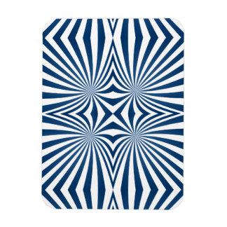 Azul que repite el modelo hipnótico imanes