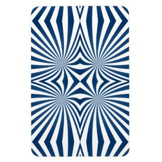 Azul que repite el modelo hipnótico iman