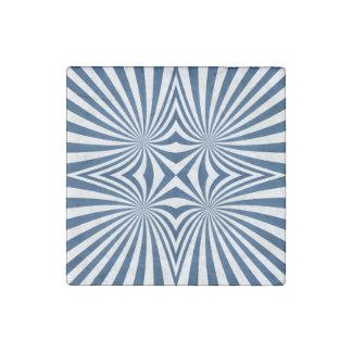 Azul que repite el modelo hipnótico imán de piedra