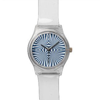 Azul que repite el modelo hipnótico reloj