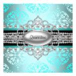 Azul Quinceanera del trullo de las perlas de los d Anuncio
