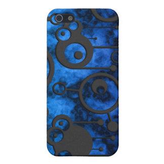 Azul radiactivo iPhone 5 fundas
