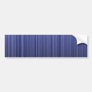 Azul rayado pegatina de parachoque