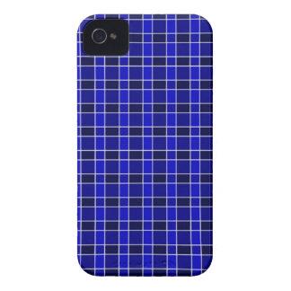 Azul real a cuadros iPhone 4 Case-Mate carcasas