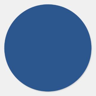 azul real brillante pegatina redonda