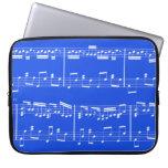 Azul real de la caja del ordenador portátil de la  mangas portátiles