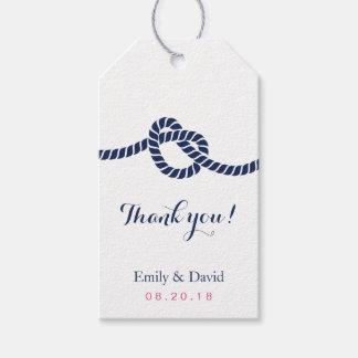 Azul real de la etiqueta del favor del boda que etiquetas para regalos