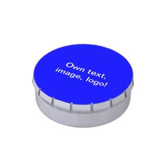 Azul real de la lata del caramelo frascos de dulces