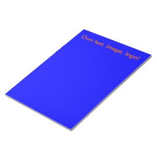 Azul real de la libreta blocs de notas