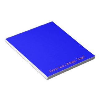 Azul real de la libreta bloc de papel