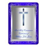 Azul real de la primera plata de la comunión santa anuncios personalizados