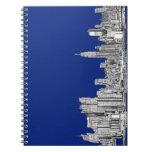 Azul real de la tinta de NYC Libros De Apuntes