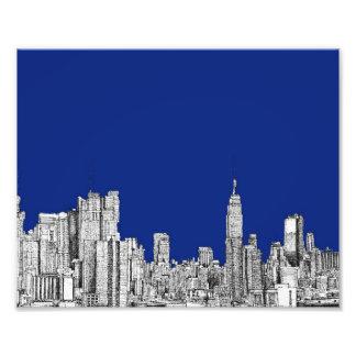 Azul real de la tinta de NYC Fotografía