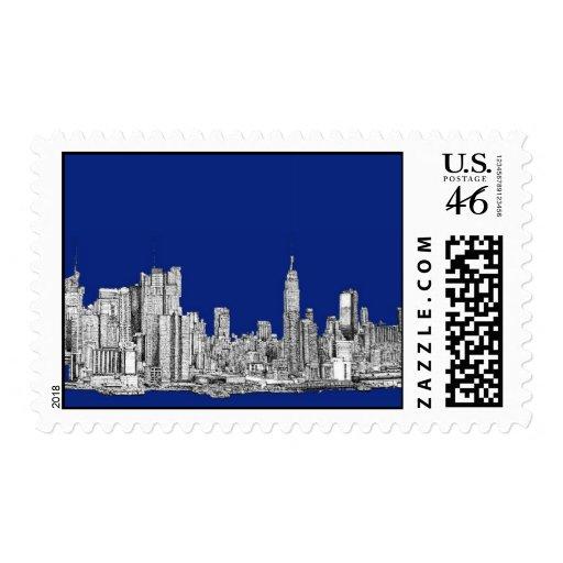 Azul real de la tinta de NYC