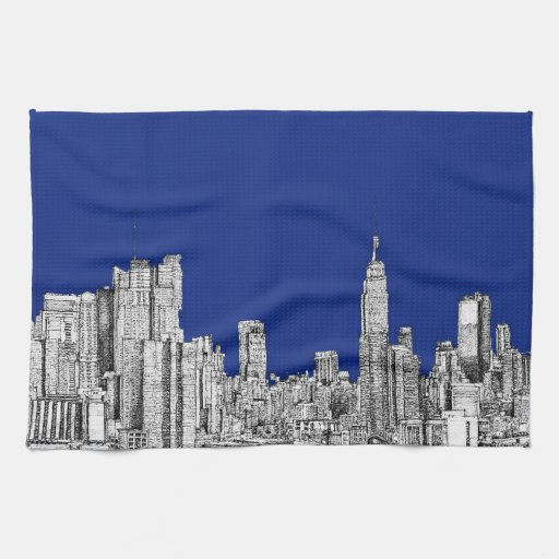 Azul real de la tinta de NYC Toallas De Mano