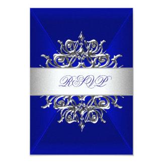 Azul real de RSVP en la fiesta de cumpleaños de