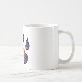 Azul real del chapoteo taza de café