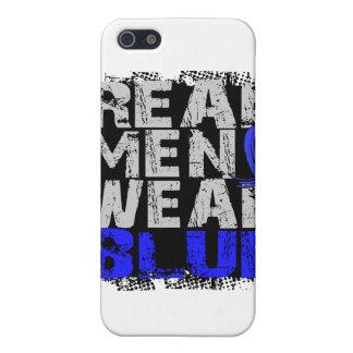 Azul real del desgaste de hombres del cáncer recta iPhone 5 funda