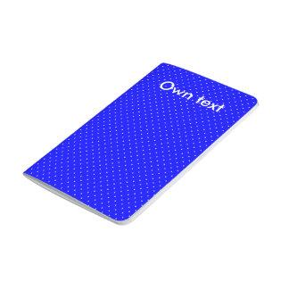 Azul real del diario del bolsillo con los puntos cuaderno